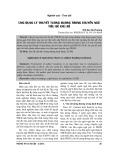 Ứng dụng lý thuyết tương đương trong chuyển ngữ tiêu đề chủ đề