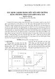 Xác định Cadimi trong mẫu rắn môi trường bằng phương pháp Von-Ampe hòa tan