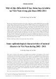 Một số đặc điểm dịch tễ học thảm họa tự nhiên tại Việt Nam trong giai đoạn 2002-2011
