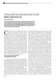 Trung Quốc và tham vọng quốc tế hóa đồng nhân dân tệ