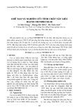 Chế tạo và nghiên cứu tính chất vật liệu Blend NR/NBR/CSE-50