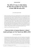 Đặc điểm tử vong và chấn thương do thảm họa tự nhiên tại Việt Nam từ năm 2000 đến năm 2012