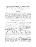 Hoàn thiện quy chế cho vay nhìn từ góc độ quản lý nợ xấu của tổ chức tín dụng Việt Nam
