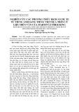 Nghiên cứu các phương thức dịch ẩn dụ tu từ tiếng Anh sang tiếng việt dựa trên cứ liệu diễn văn của Martin Luther King