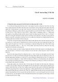 Vấn đề chợ lao động ở Hà Nội - Nguyễn Văn Chính