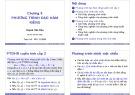 Bài giảng Toán A4: Chương 6  - ThS. Huỳnh Văn Kha