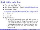Bài giảng Toán A1: Chương giới thiệu - ThS. Huỳnh Văn Kha