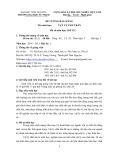 Đề cương bài giảng: Vật lý chất rắn