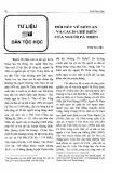 Đôi nét về món ăn và cách chế biến của người Pà Thẻn - Trần Thu Hiếu