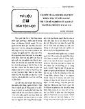 Vài nét về cách thức đặt tên theo phụ tử liên danh với vấn đề nghiên cứu lịch sử người Hà Nhì Đen ở Lào Cai - Dương Tuấn Nghĩa