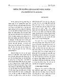 Những tín ngưỡng liên quan đến nông nghiệp của người Tày ở Cao Bằng - Đàm Thị Uyên