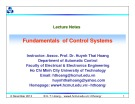 Lecture Fundamentals of control systems: Chapter 9 - TS. Huỳnh Thái Hoàng