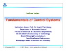 Lecture Fundamentals of control systems: Chapter 7 - TS. Huỳnh Thái Hoàng