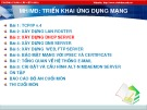 Bài giảng Triển khai ứng dụng mạng - Bài 3: Xây dựng DHCP Server