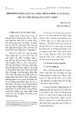 Tình hình ruộng đất của Tổng Thông Nông, Cao Bằng qua tư liệu địa bạ Gia Long 4 (1805)