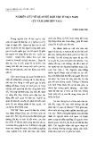 Nghiên cứu về quan hệ dân tộc ở Việt Nam từ năm 1980 đến nay - Vương Xuân Tình