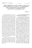 Một số biến đổi về văn hóa xã hội của người Cơ-tu ở thôn AGRồng dưới tác động của dự hình thành và phát triển khu trung tâm hành chính huyện Tây Giang, tỉnh Quảng Nam - Phạm Văn Lợi