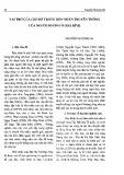 Vai trò của chí mờ trong hôn nhân truyền thống của người Mường ở Thái Bình - Nguyễn Thị Song Hà
