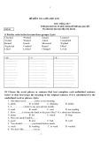 Đề kiểm  tra giữa học kì II môn Tiếng Anh 7
