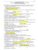 Câu hỏi lí thuyết vô cơ trong đề thi thử chuyên Đại học Vinh lần 1, 2,3 năm 2013