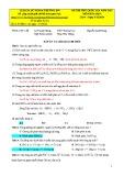 Đáp án đề thi thử Quốc gia năm 2015 môn: Hóa học
