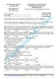 Đề thi thử lần 2 chuẩn bị cho kì thi THPT Quốc gia 2015 môn Hóa học - Trường THPT Chuyên Đại học Vinh (Mã đề 347)