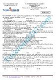 Đề thi thử THPT Quốc gia năm học 2014-2015 môn Vật lý lần 2 - Trường THPT Lý Thái Tổ (Mã đề thi 132)