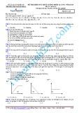 Đề thi khảo sát chất lượng khối 12 năm 2015 môn Hoá học lần 2 - Trường THPT Đô Lương 1 (Mã đề thi 246)