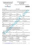 Đề thi thử THPT Quốc gia năm 2015 môn Hóa học lần 1 - Trường THPT Cù Huy Cận (Mã đề thi 164)