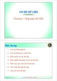 Bài giảng Cơ sở dữ liệu: Chương 1 - ThS. Trần Quang Hải Bằng