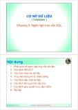 Bài giảng Cơ sở dữ liệu: Chương 3 - ThS. Trần Quang Hải Bằng