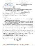 Đề kiểm tra khảo sát môn Toán 12 - Trường THPT chuyên Hùng Vương