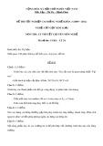 Đề thi tốt nghiệp cao đẳng nghề khoá 3 (2009-2012) - Nghề: Cắt gọt kim loại - Môn thi: Lý thuyết chuyên môn nghề - Mã đề thi: CGKL–LT24