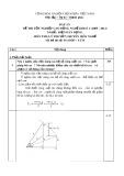 Đáp án đề thi tốt nghiệp cao đẳng nghề khóa 3 (2009-2012) - Nghề: Điện dân dụng - Môn thi: Lý thuyết chuyên môn nghề - Mã đề thi: DA ĐDD–LT33