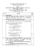Đáp án đề thi tốt nghiệp cao đẳng nghề khóa 3 (2009-2012) - Nghề: Điện dân dụng - Môn thi: Lý thuyết chuyên môn nghề - Mã đề thi: DA ĐDD–LT07