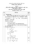 Đáp án đề thi tốt nghiệp cao đẳng nghề khóa 3 (2009-2012) - Nghề: Điện dân dụng - Môn thi: Lý thuyết chuyên môn nghề - Mã đề thi: DA ĐDD–LT09
