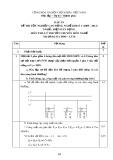 Đáp án đề thi tốt nghiệp cao đẳng nghề khóa 3 (2009-2012) - Nghề: Điện dân dụng - Môn thi: Lý thuyết chuyên môn nghề - Mã đề thi: DA ĐDD–LT16
