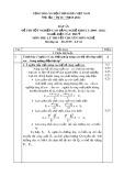 Đáp án đề thi tốt nghiệp cao đẳng nghề khoá 3 (2009-2012) - Nghề: Điện tàu thủy - Môn thi: Lý thuyết chuyên môn nghề - Mã đáp án: ĐA ĐTT-LT16