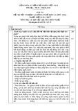 Đáp án đề thi tốt nghiệp cao đẳng nghề khoá 3 (2009-2012) - Nghề: Điện tàu thủy - Môn thi: Lý thuyết chuyên môn nghề - Mã đáp án: ĐA ĐTT-LT17