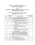 Đáp án đề thi tốt nghiệp cao đẳng nghề khoá 3 (2009-2012) - Nghề: Điều khiển tàu biển - Môn thi: Lý thuyết chuyên môn nghề - Mã đề thi: ĐA-ĐKTB-LT32