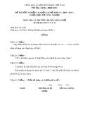 Đề thi tốt nghiệp cao đẳng nghề khóa 3 (2009-2012) - Nghề: Điện tử công nghiệp - Môn thi: Lý thuyết chuyên môn nghề - Mã đề thi: ĐTCN-LT23