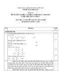 Đáp án đề thi tốt nghiệp cao đẳng nghề khoá 3 (2009-2012) - Nghề: Điện tử dân dụng - Môn thi: Lý thuyết chuyên môn nghề - Mã đề thi: ĐA ĐTDD-LT28