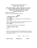 Đề thi tốt nghiệp cao đẳng nghề khóa 3 (2009-2012) - Nghề: Kỹ thuật sửa chữa, lắp ráp máy tính - Môn thi: Lý thuyết chuyên môn nghề - Mã đề thi: SCLRMT-LT43 (kèm đáp án)