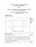 Đáp án đề thi tốt nghiệp cao đẳng nghề khóa 3 (2009-2012) - Nghề: Kỹ thuật xây dựng - Môn thi: Lý thuyết chuyên môn nghề - Mã đề thi: DA KTXD-LT09
