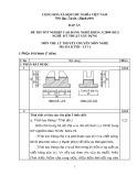 Đáp án đề thi tốt nghiệp cao đẳng nghề khóa 3 (2009-2012) - Nghề: Kỹ thuật xây dựng - Môn thi: Lý thuyết chuyên môn nghề - Mã đề thi: DA KTXD-LT11
