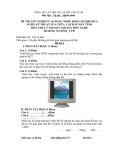 Đề thi tốt nghiệp cao đẳng nghề khóa 3 (2009-2012) - Nghề: Kỹ thuật sửa chữa, lắp ráp máy tính - Môn thi: Lý thuyết chuyên môn nghề - Mã đề thi: SCLRMT-LT30 (kèm đáp án)