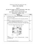 Đáp án đề thi tốt nghiệp cao đẳng nghề khóa 3 (2009-2012) - Nghề: Lắp đặt thiết bị cơ khí - Môn thi: Lý thuyết chuyên môn nghề - Mã đề thi: ĐA-LĐTBCK-LT02