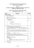 Đáp án đề thi tốt nghiệp cao đẳng nghề khóa 3 (2009-2012) - Nghề: Lập trình máy tính - Môn thi: Lý thuyết chuyên môn nghề - Mã đề thi: DA LTMT-LT20