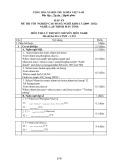 Đáp án đề thi tốt nghiệp cao đẳng nghề khóa 3 (2009-2012) - Nghề: Lập trình máy tính - Môn thi: Lý thuyết chuyên môn nghề - Mã đề thi: DA LTMT-LT22
