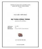 Tài liệu môn học Dự toán công trình - ThS. Lê Viết Thanh Phong